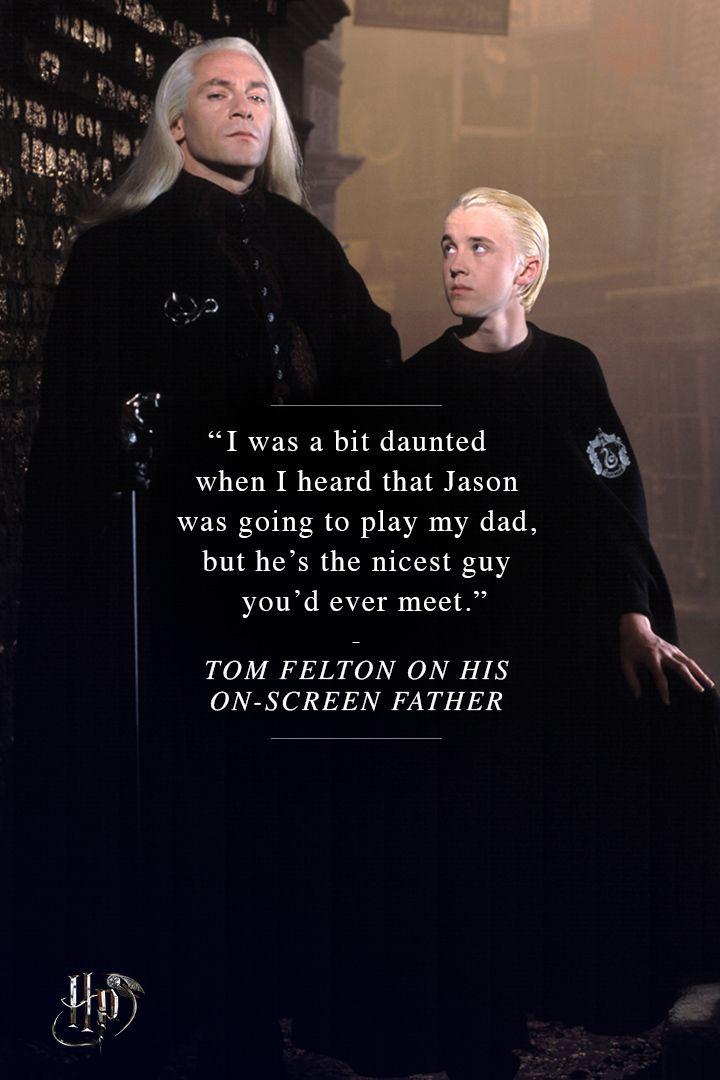 Tom Felton on his on-screen father