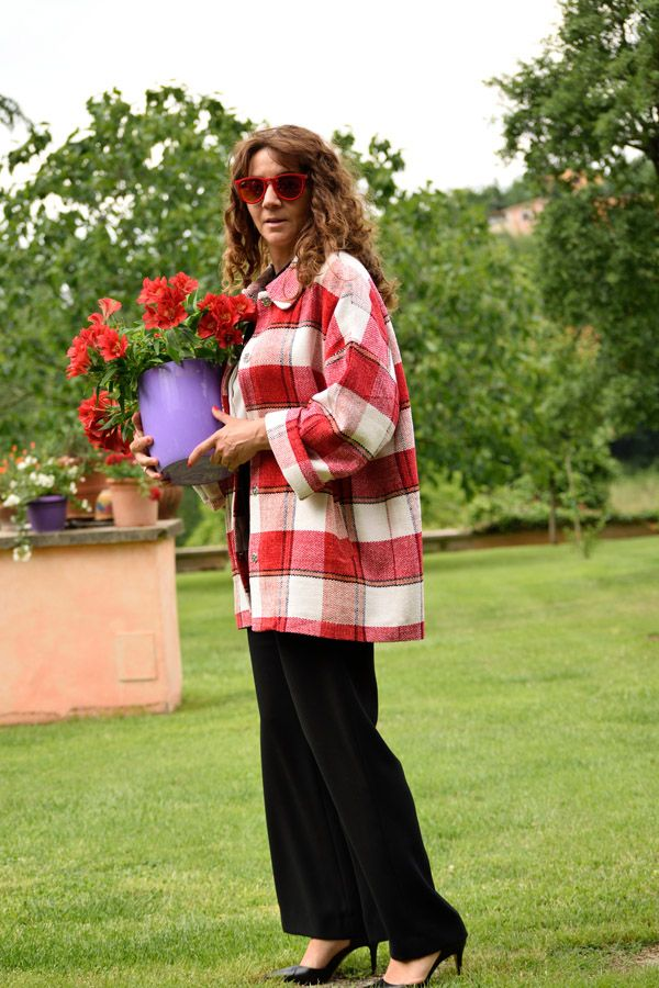 giacca perfetta essentiel #essentiel #outfit #ootd #outfitoftheday #look #lookoftheday #fashion #fashionblog #fashionblogger #jacket #plaid #check