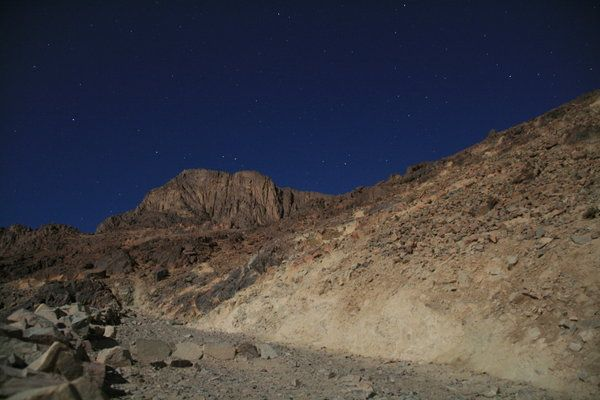 Looking back up at Mount Sinai