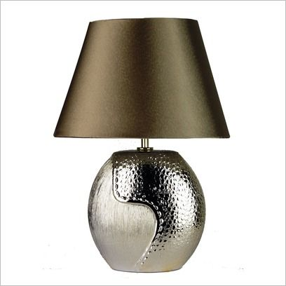 Eclipse Ovoid Complete Table Lamp in Champagne Oriel | Wayfair
