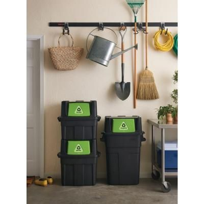 rubbermaid 24 5 gal stackable recycling bin recycling home and the o 39 jays. Black Bedroom Furniture Sets. Home Design Ideas