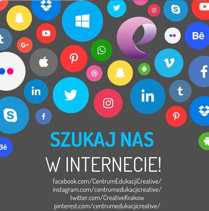 Szukajcie nas w Internecie! ✌️📲🖥️📸