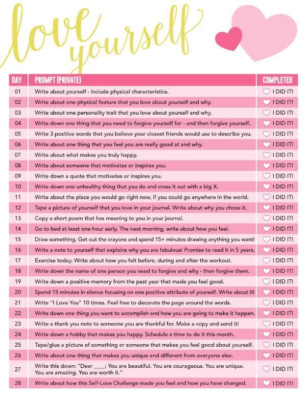 February+Challenge:+Self-Love+Challenge
