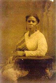 Mahala Lynch Davis, slave and free woman. She was owned by Isaac P. Davis, who brought her to Ohio, freed her, then married her in 1857.