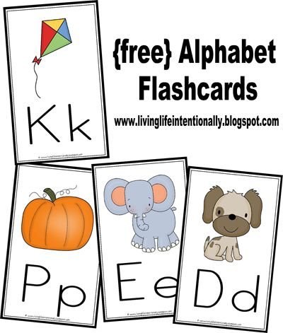 FREEBIE Alphabet cards.  These will print in both 3x5 size for flashcards and 5x8 size for wall cards.  Really cute and look professional!