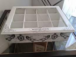 Resultado de imagen para cajas de te en decoupage vintage