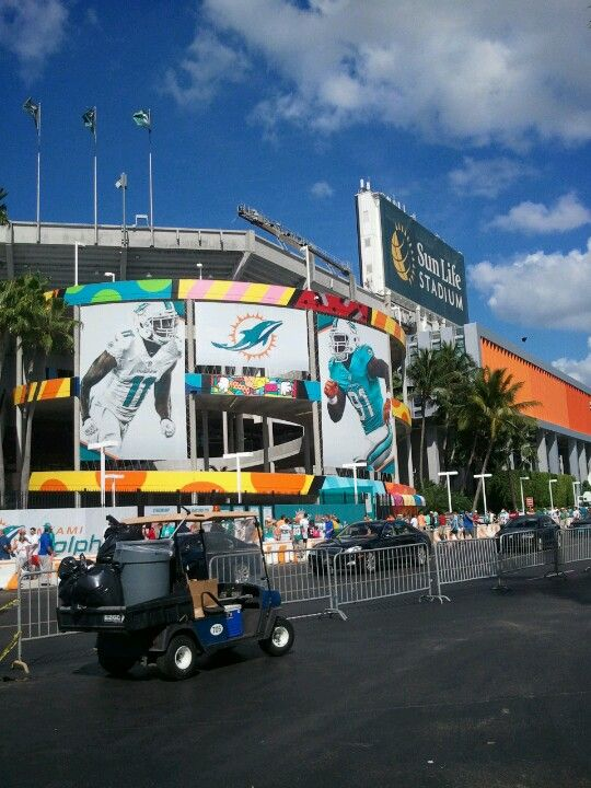 Sun Life Stadium!  Oct. 12th, can't wait!!! Me, pops and brother going to see Packers get that a$$ whooped!
