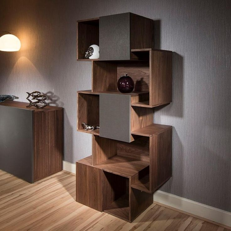 Designer Bookshelf From Quatropi. Itu0027s Features Include A Special Two Tone  Finish In Walnut