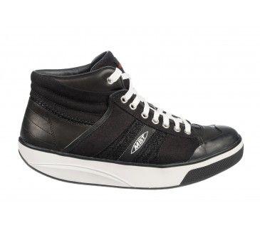 MBT Hasa Low Black Nappa Leather Men's Shoe