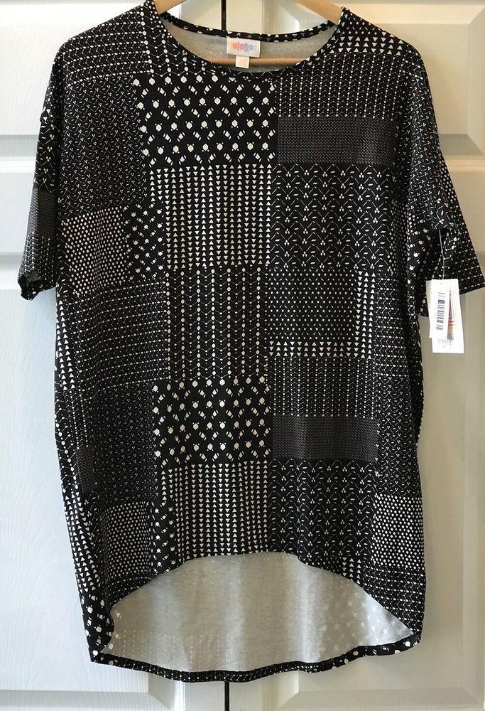 0487f2f0ee6 Lularoe Irma Top Shirt Tunic Modal Size XXS Black White Patchwork Hi Low  Hem New #LuLaRoe #KnitTop #Casual