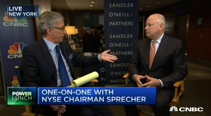 Intercontinental Exchange CEO and NYSE chairman Jeffrey Sprecher voiced his support for bitcoin in a CNBC interview yesterday.