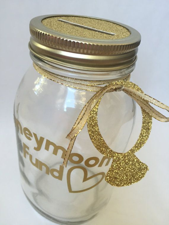Honeymoon Fund Savings Jar by BeachinBride on Etsy