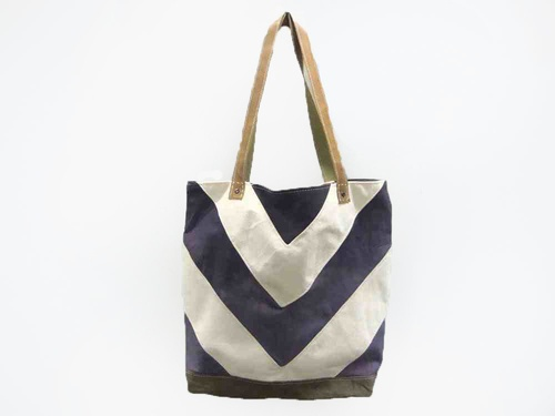 Chevron Tote in Summer Storm. $95, via The Cools