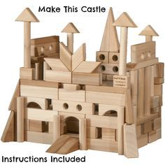 Wooden Building Blocks-118 Blocks In A Bright by BackToBlocks