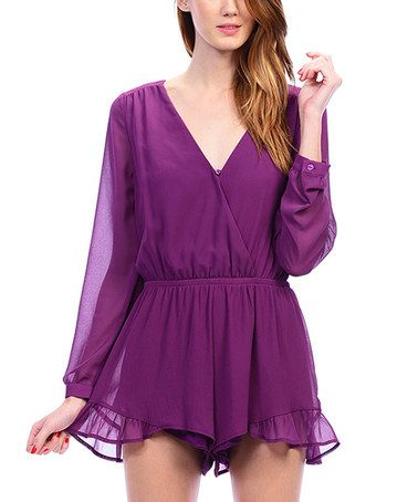 Look what I found on #zulily! Orchid Ruffle Romper #zulilyfinds