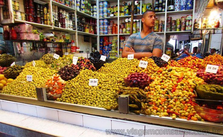 Mercado Arabe na Medina de Tanger - Marrocos - Viagem com Sabor