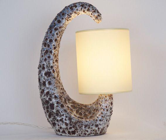 Lampe céramique Le Vaucour Vallauris XXème siècle www.jifcollin.com