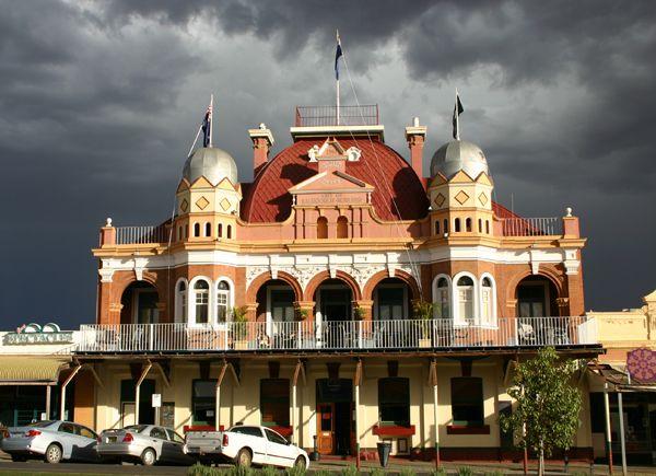 York Hotel in Kalgoorlie, Western Australia.  1990's photo. Read info under other photo of York Hotel.