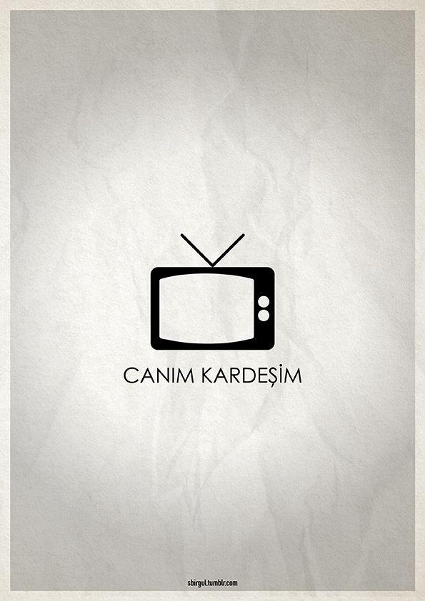 Minimal Poster / Canım Kardeşim #canimkardesim #pictogram #yesilcam #poster #afis #television