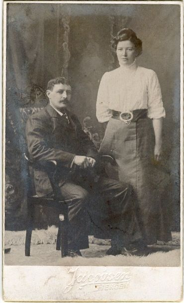 My gg mother and gg father. Oldemor Kaspara og oldefar Jonas #genealogy #slekt