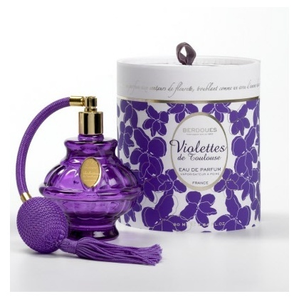 Parfum BERDOUES Violettes de Toulouse.  I just brought some of this home with me from France.