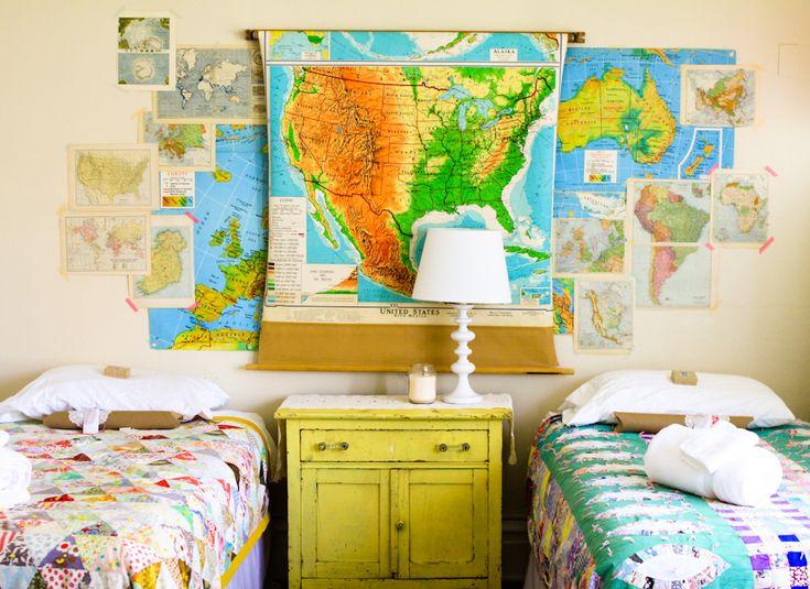 Vintage Map Decor | vignettes & collections | Pinterest