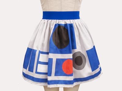 Click to enlarge image star-wars-skirts-1.jpg: R2D2 Skirts, Fashion, Cacti Garden, Prints R2, Stars War, Rain Skirts, Inspiration Skirts, Geek Chic, Starwars
