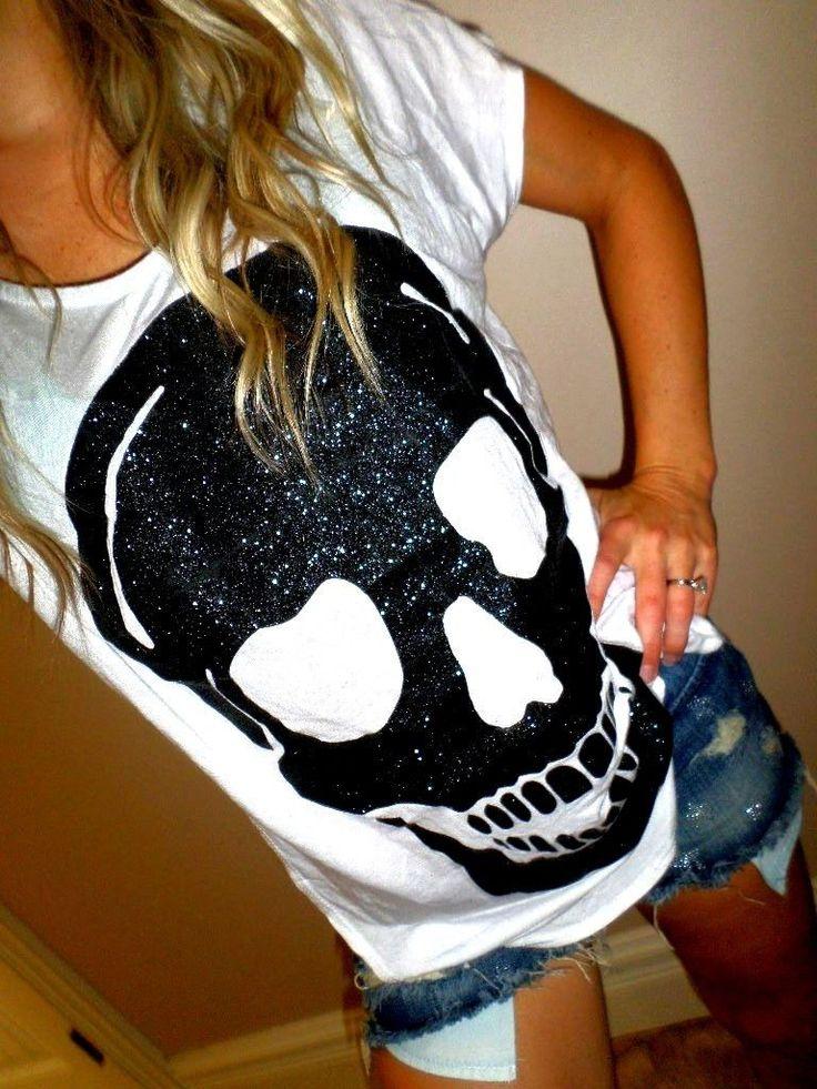 Glitter skull shirt                                                                                                                                                                                 More