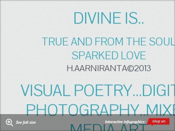 Divine is.. Visual poetry...digital photography..Mixed media Art by H.Aarniranta©2013