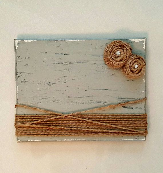 Rustic Picture Frame Wood Picture Frame Burlap Twine Picture
