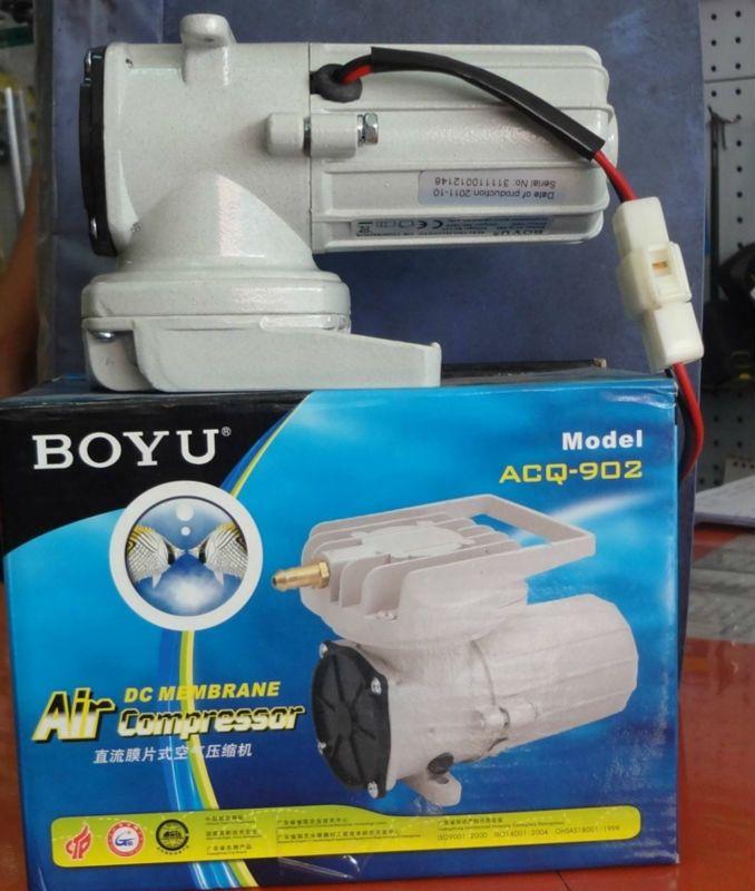 (60.00$)  Know more  - New BOYU ACQ-902 DC 12V 38L/min 18W Aquarium Air Compressor Aquaculture Water Fish Aeration Hi Pressure Pump Free Shipping