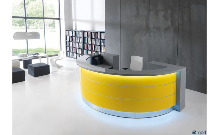 Straight, convex and concave elements are at your disposal in any of the numerous wavy, circular and upright arrangements, which perfectly create the feeling of style and integrity for the reception area #sohomod