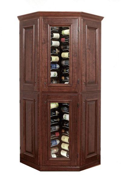 corner wine cabinets | Estate Series - Connoisseur Corner - 240 Bottles