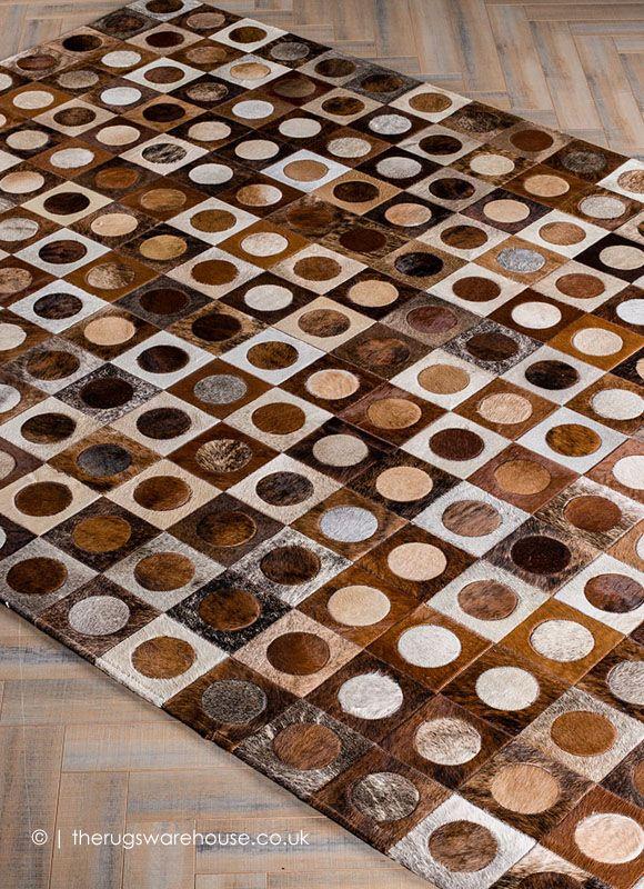 Dowel Rug Mosaic Rugs Patchwork Leather Rugs Cowhide Leather Rug