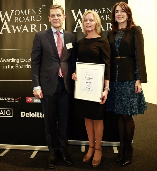On January 27, 2017, Crown Princess Mary attended the Women's Board Awards 2017 in Copenhagen, Denmark. This year Women's Board Award went to Pernille Erenberg, Managing Director for the telecommunication company TDC. (Crown Princess Mary wore LK Bennett Bryony Evergreen Silk Dress)