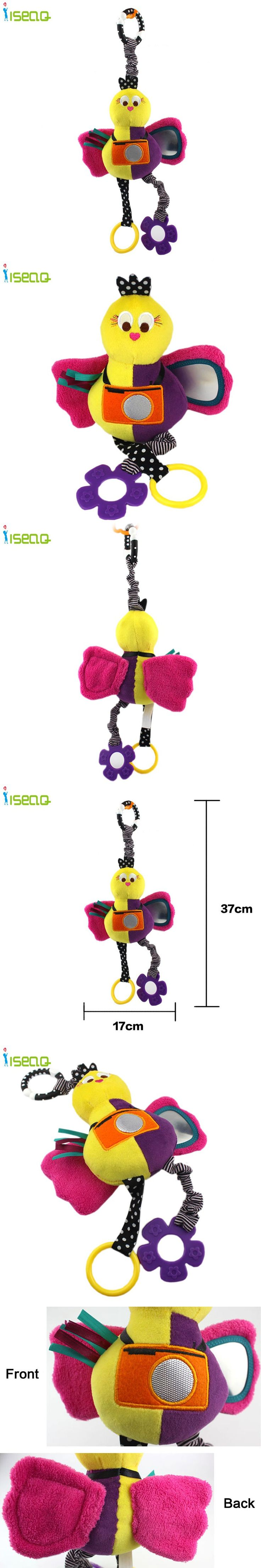 Latest Collection Cute Bright Colors Mamas & Papas Camera Bird Bed Hang Baby Toys Rattle Safe Mirror Teether Gift 1 pc BT006