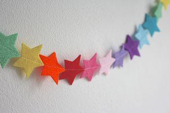 patrones navideños de estrellas en fieltro