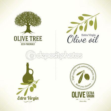 Set of olive labels — Stock Illustration #62892071
