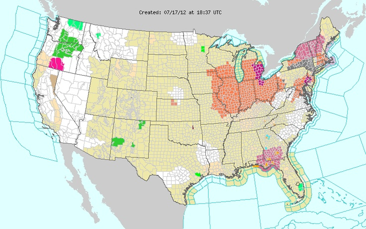 07/17/2012 National Active Weather Alerts Map National