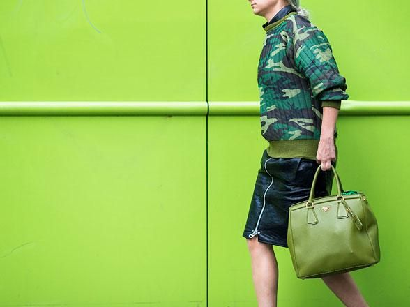 Play mix and match with bold green hues.
