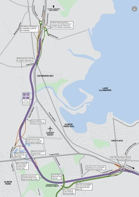 MAPPED OUT: The planned route of the Albion Park Rail bypass. The government has called for registrations of interest from tenderers to design and build the new road.