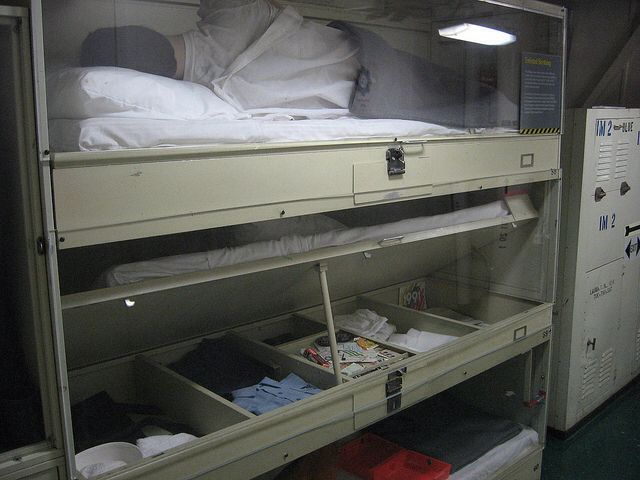 Ships Bunks Top Bunk Was The Worst And Saved For The Newbies