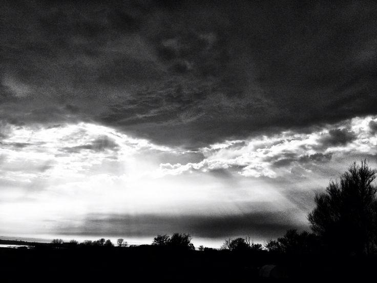 #photography #black and white #sky #clouds #sun #light contrast #art #artleanda    artleanda.com