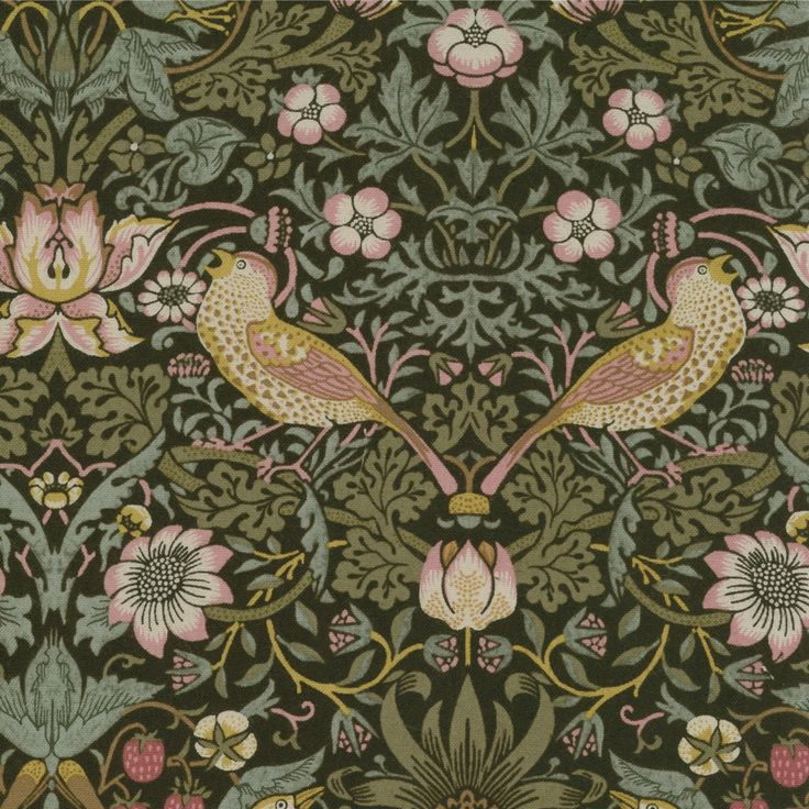 Because of the darker colours William Morris uses, the designs are never too sweet (for my taste)