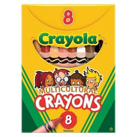Crayola® Multicultural Crayons, 8 Skin Tone Colors/Box