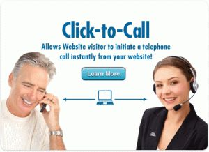 Click to Call is a mobile site feature that allows visitors to click and place a call to a specified phone number. The Click to Call feature has become extremely popular because it is the easiest way to have mobile visitors contact who they want to contact.  More: http://mofuse.com/mobile-features/click-to-call-2/