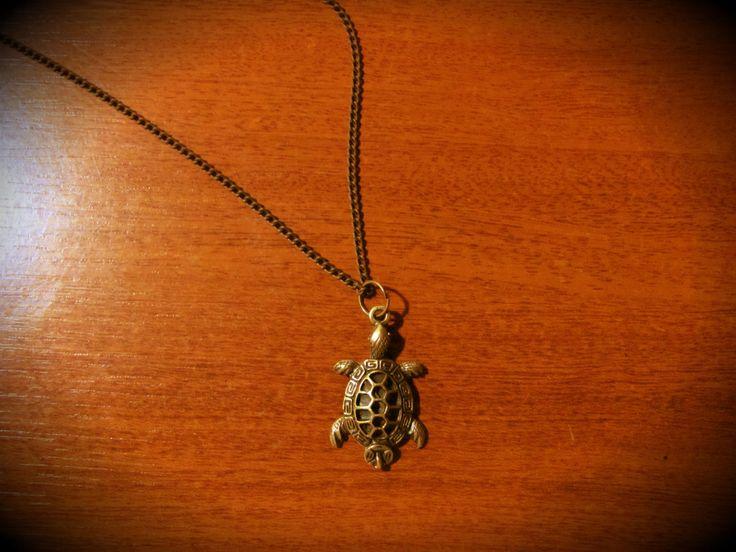 collar con dije de tortuga