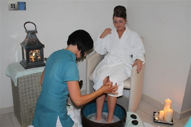 Enjoy foot treatments at the Seascape Spa