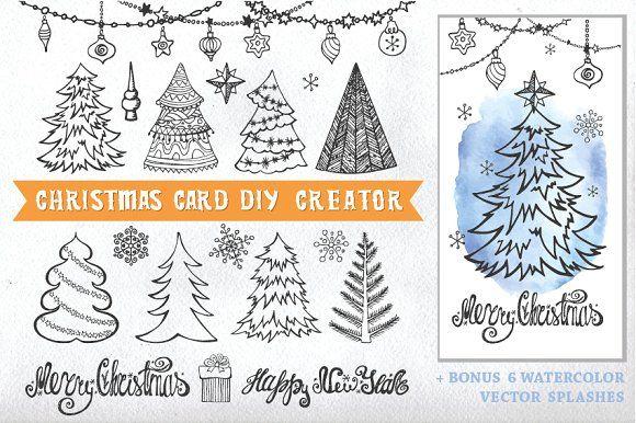 Christmas Card Diy Creator 01 Diy Christmas Cards Diy Cards Christmas Cards