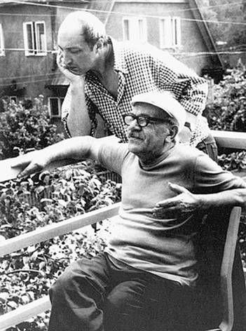 Давид Самойлов с Михаилом Козаковым. Пярну. Конец 1970-х – начало 1980-х  годов